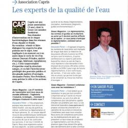 Association Capris Les experts de la qualité de l'eau