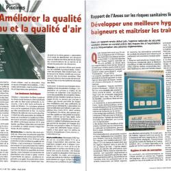 Piscines : améliorer la qualité d'eau et la qualité d'air