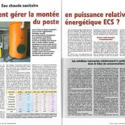 Comment gérer la montée en puissance relative du poste énergétique ECS ?